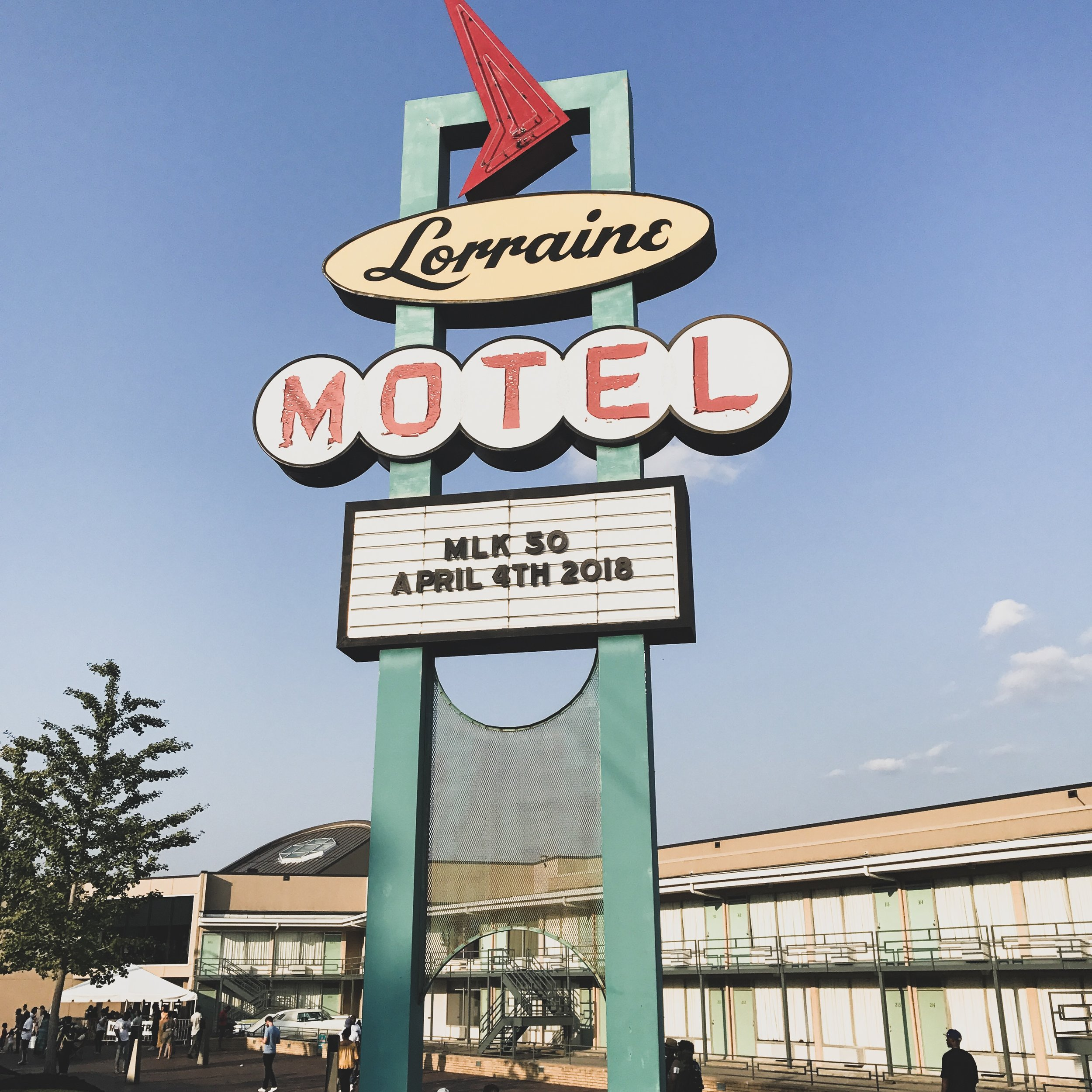 National Civil Rights Museum in memphis, Tennessee. 50th anniversary of Martin Luther King Jr's assassination at the Lorraine Motel.