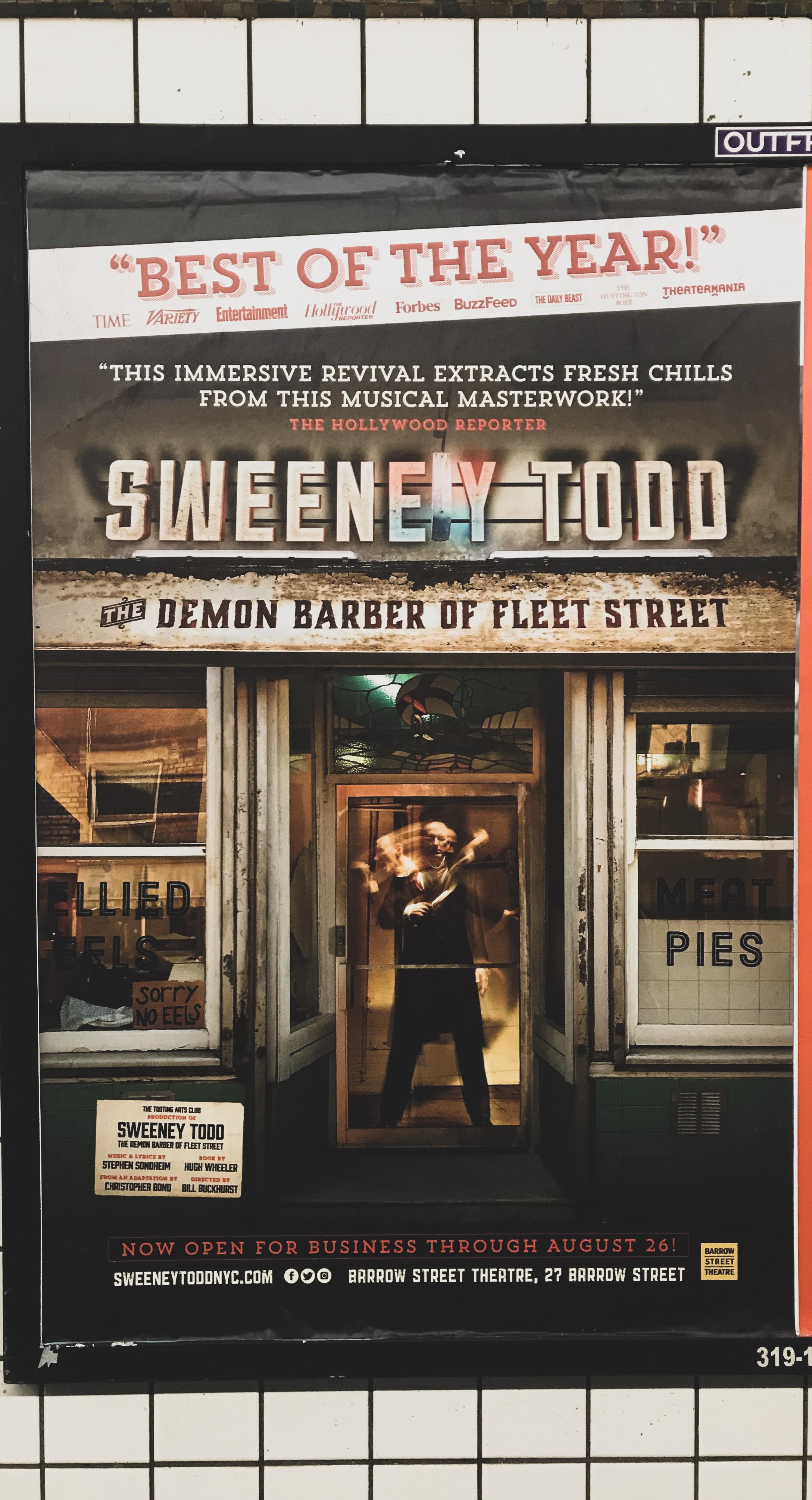 Sweeney Todd Subway Ad