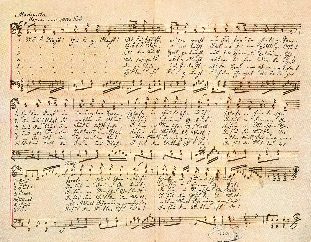 """""""Stille Nacht! Heilige Nacht!"""" from the c. 1860 """"Autograph VI"""" version by Gruber."""