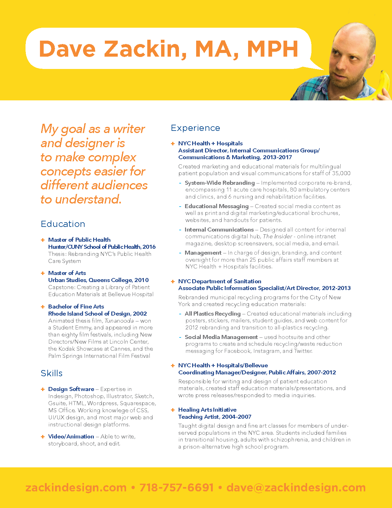 Click here for a printable resume.