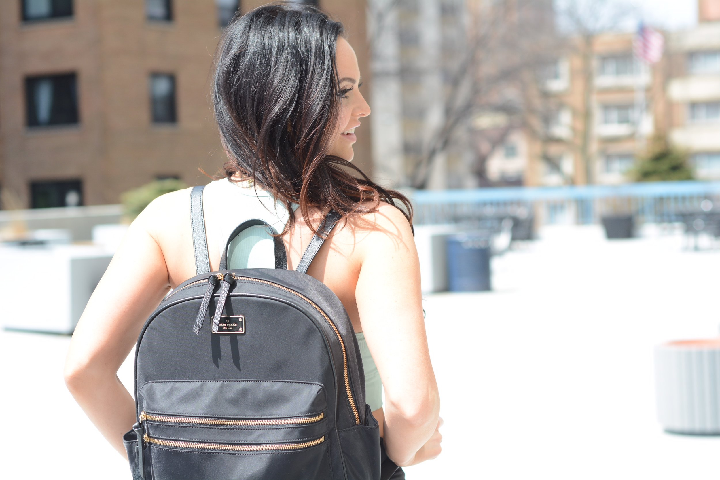 backpack kate spade travel tips justinefit justine moore sloan stay fit traveling vacation