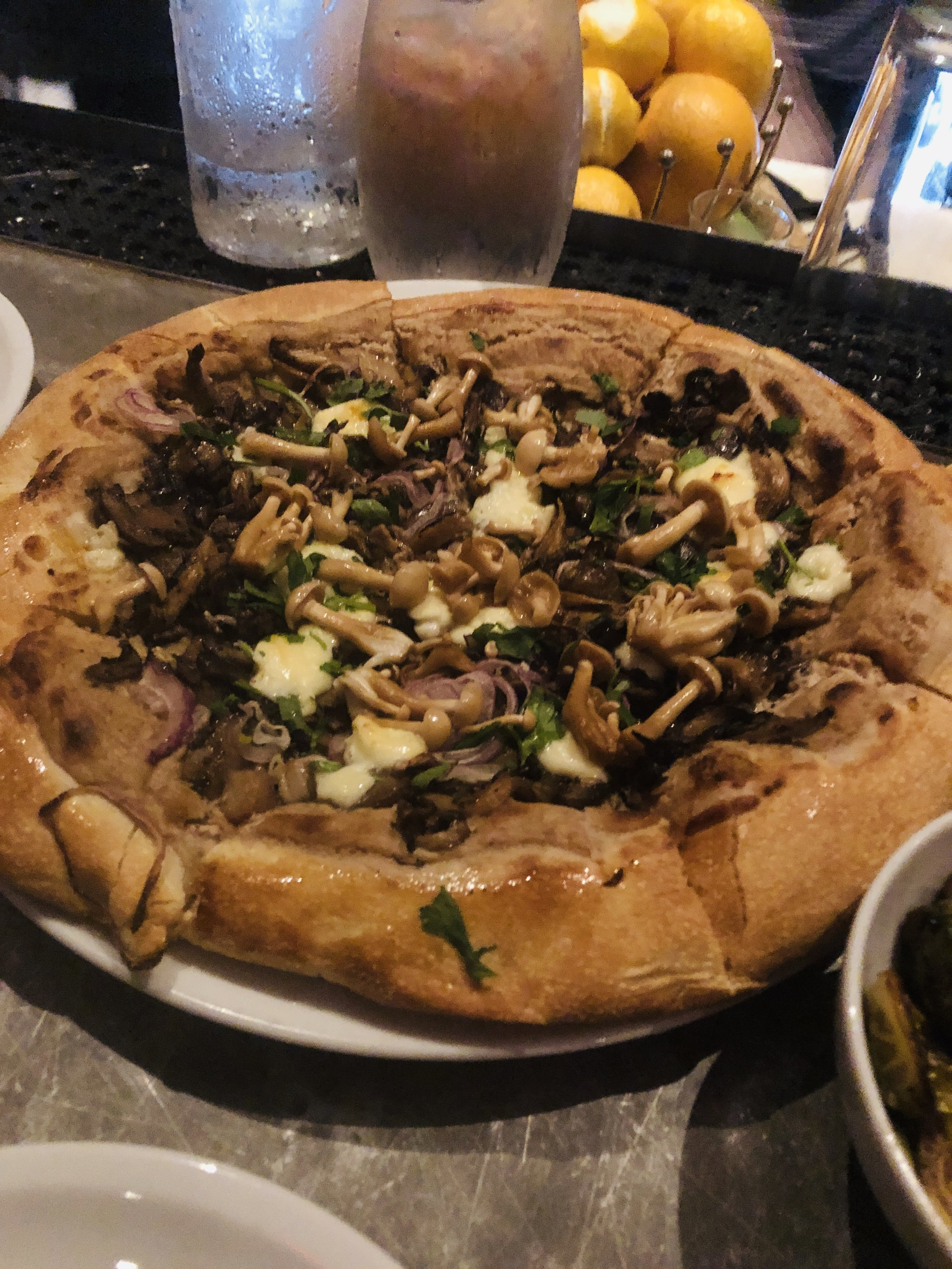 Still daydreaming about this mushroom pizza at    Coltivare