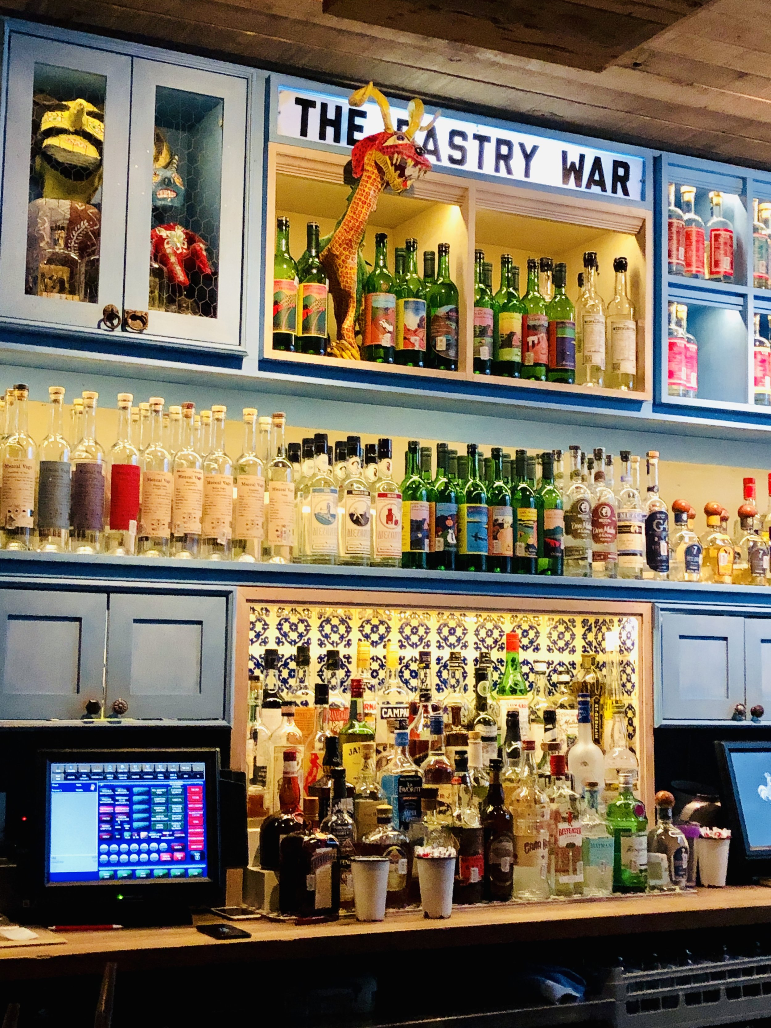 The bar at    The Pastry War
