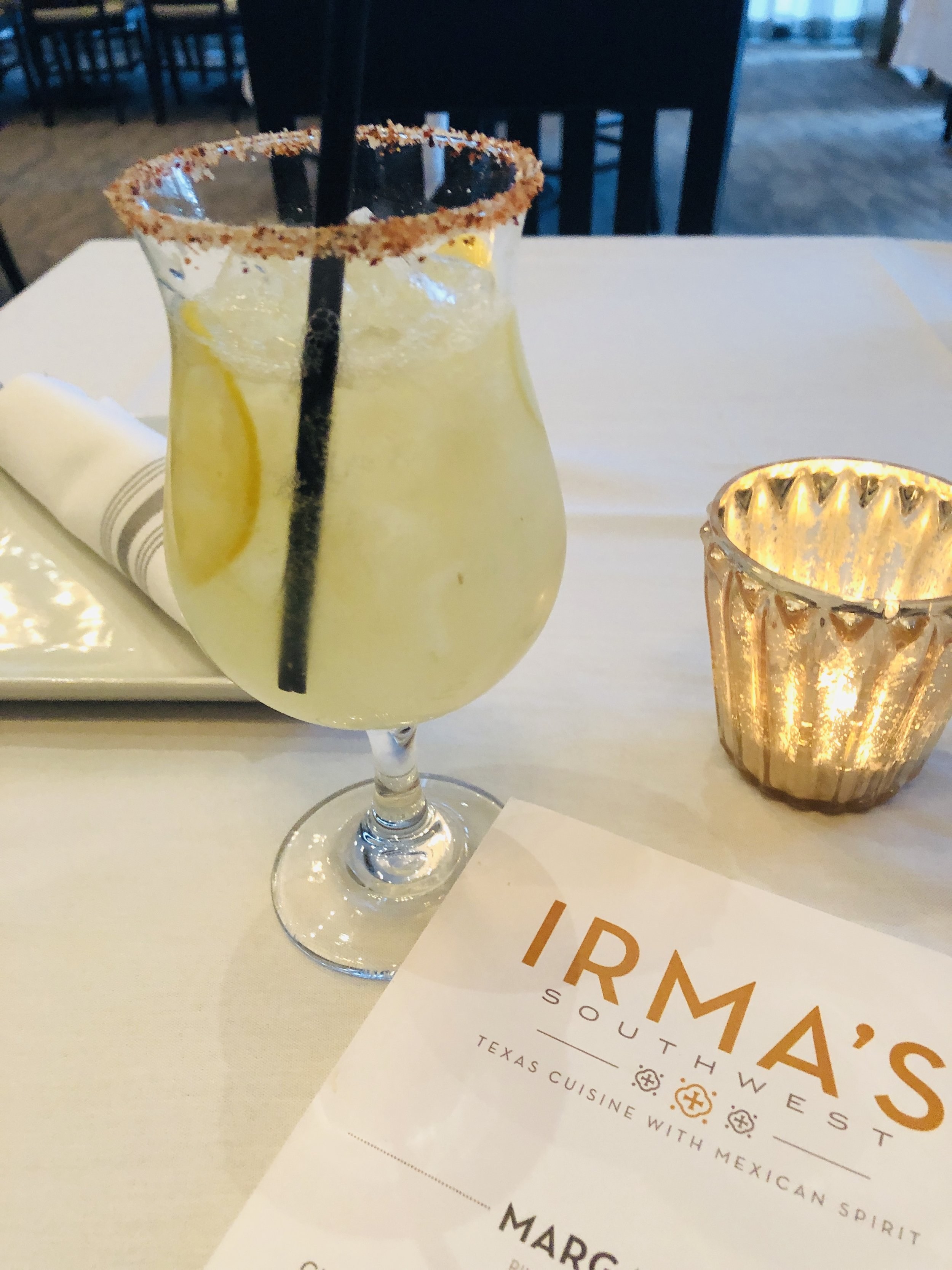 Strong and delicious margarita at  Irma's Southwest