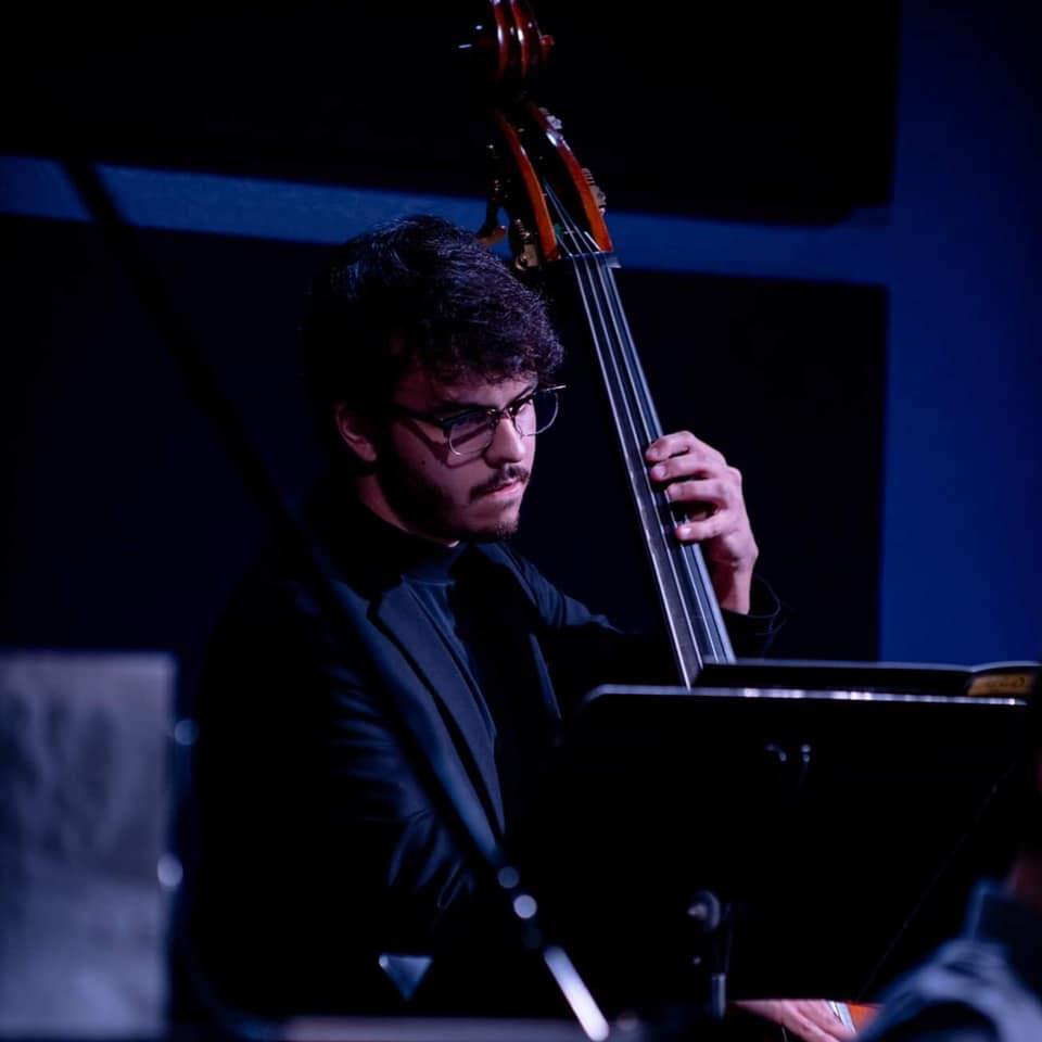 Nelson Gonzales - Bass - Nelson Gonzales is an up-and-coming bass player studying at UCO. I'm excited to feature this young cat at Skirvin Jazz Club.