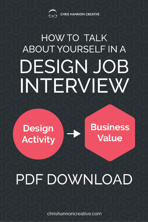 How to talk about yourself in a design job interview