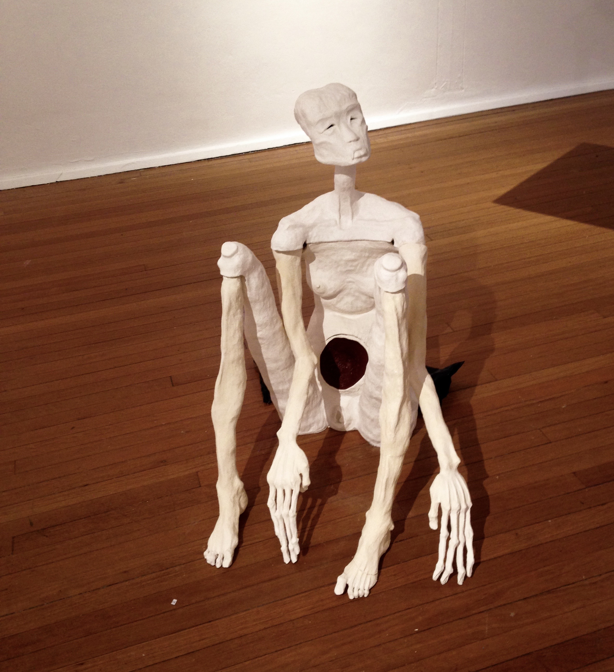 """""""Is This The End-o?"""", Ceramic Sculpture AD Space Gallery, 2017"""
