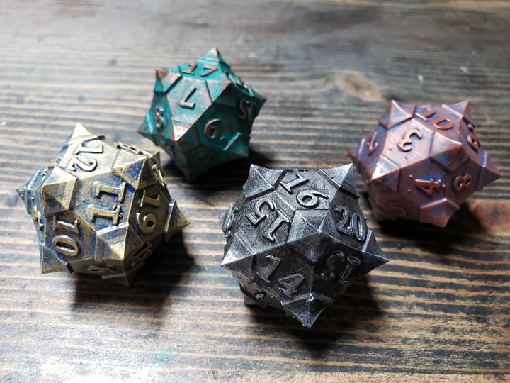 Our new 50mm health counter dice. Be careful when you turn them or you might lose some health!