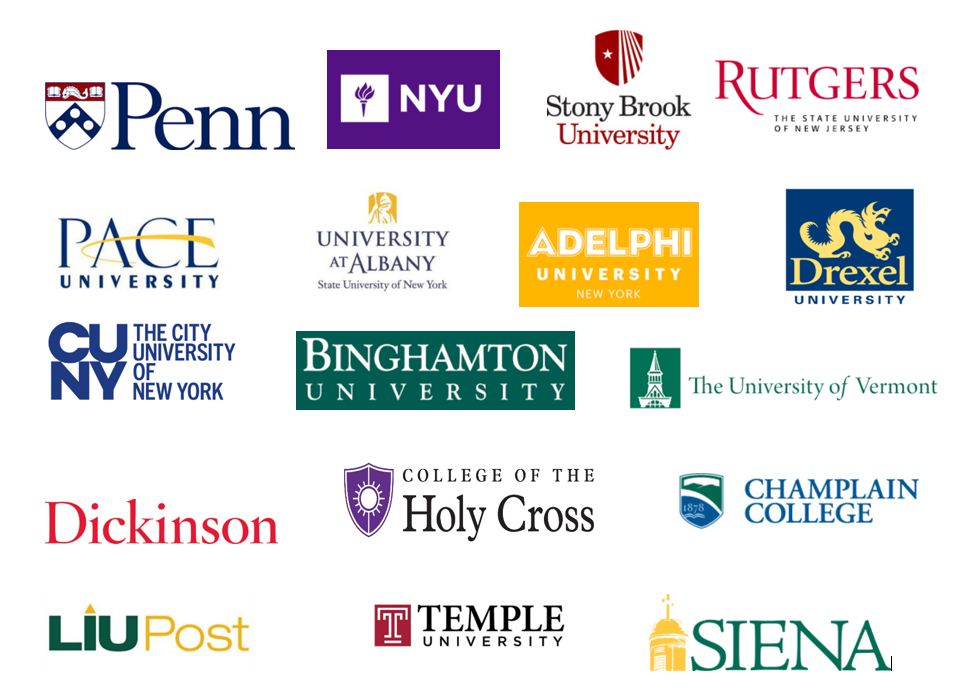 List above includes partner colleges, and independent student initiatives from students attending these colleges.