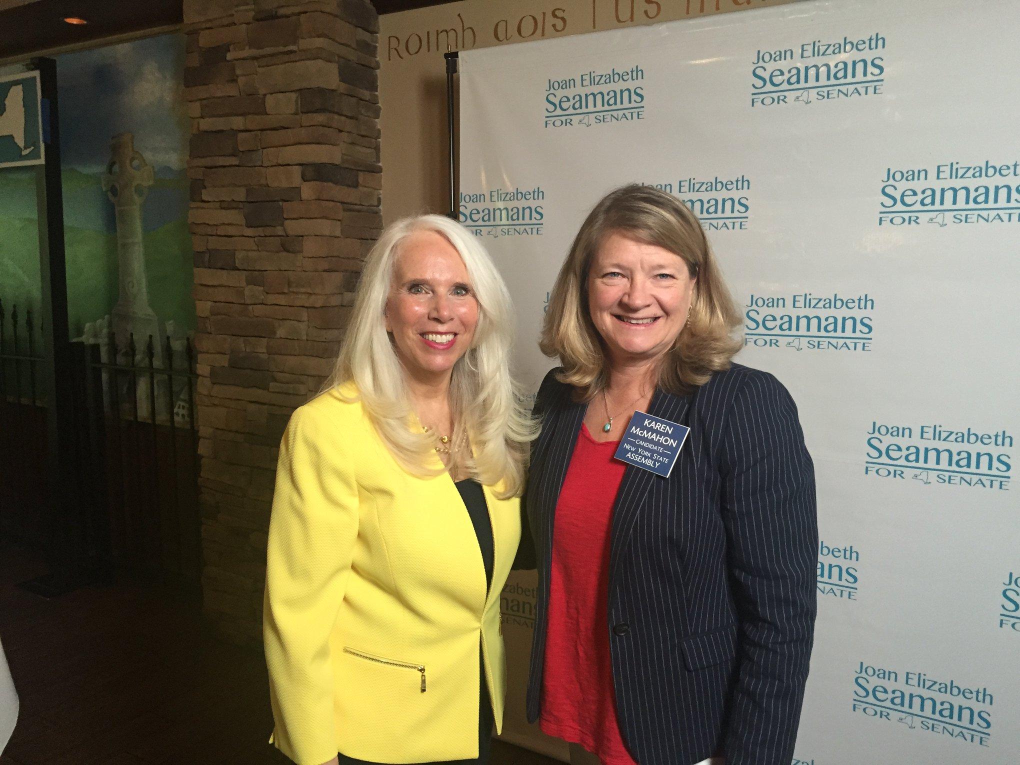 Joan Elizabeth Seamans (Left), Karen McMahon (Right)