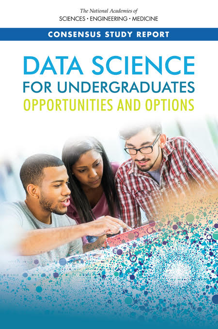 Cover of the National Academies' Report on  Data Science for Undergraduates .