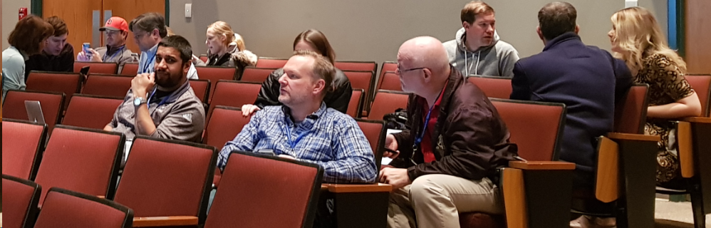Teachers at the NCSSM 2019 Teaching Contemporary Mathematics Conference discuss broadening participation in the MAA AMC and field test materials from MAA Mathematician-at-large James Tanton