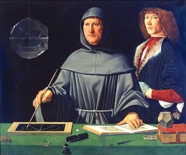Portrait of Luca Pacioli, generally attributed to Jacopo de' Barbari, ca.1500