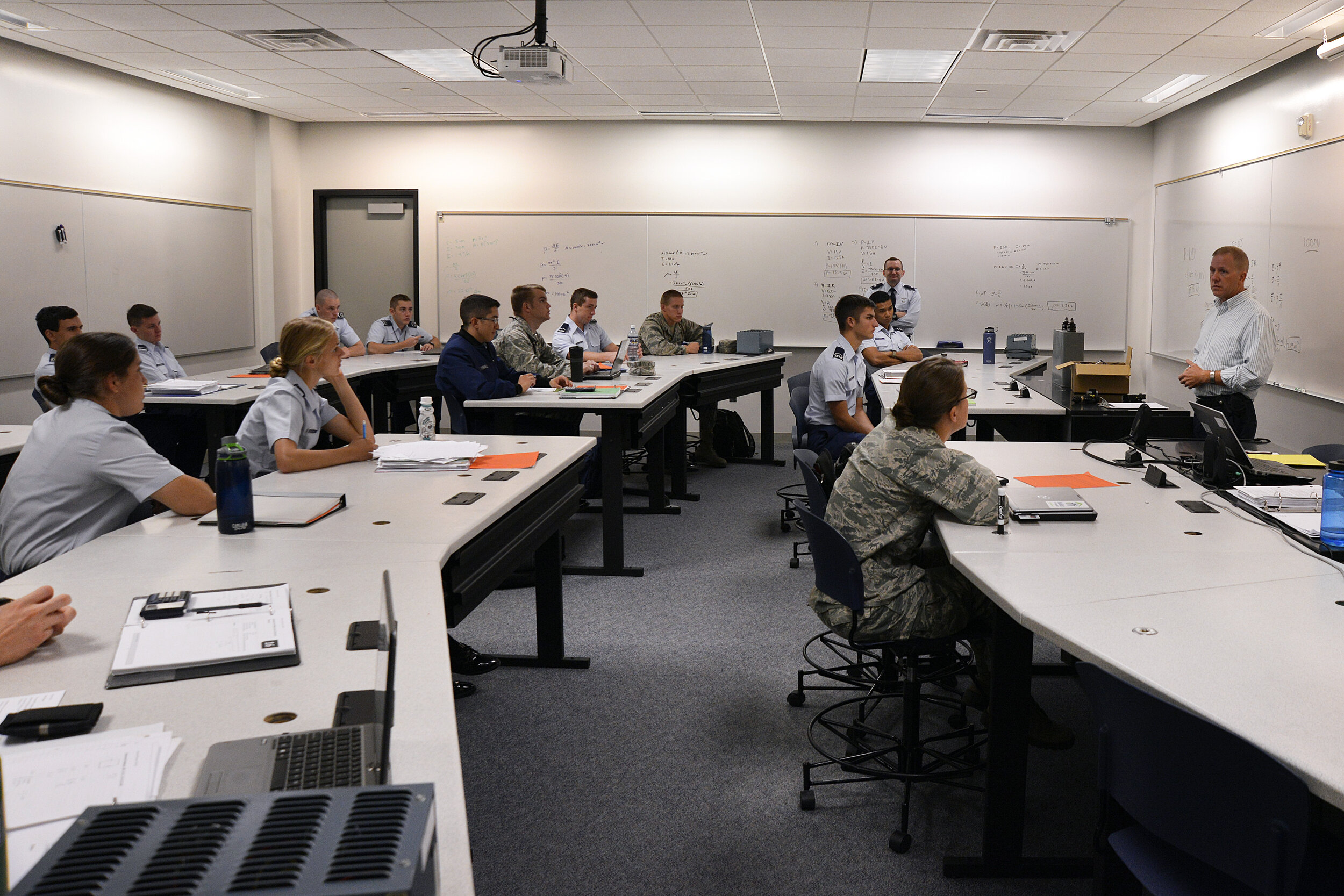 Students at the US Air Force Academy in Colorado Springs, Colorado