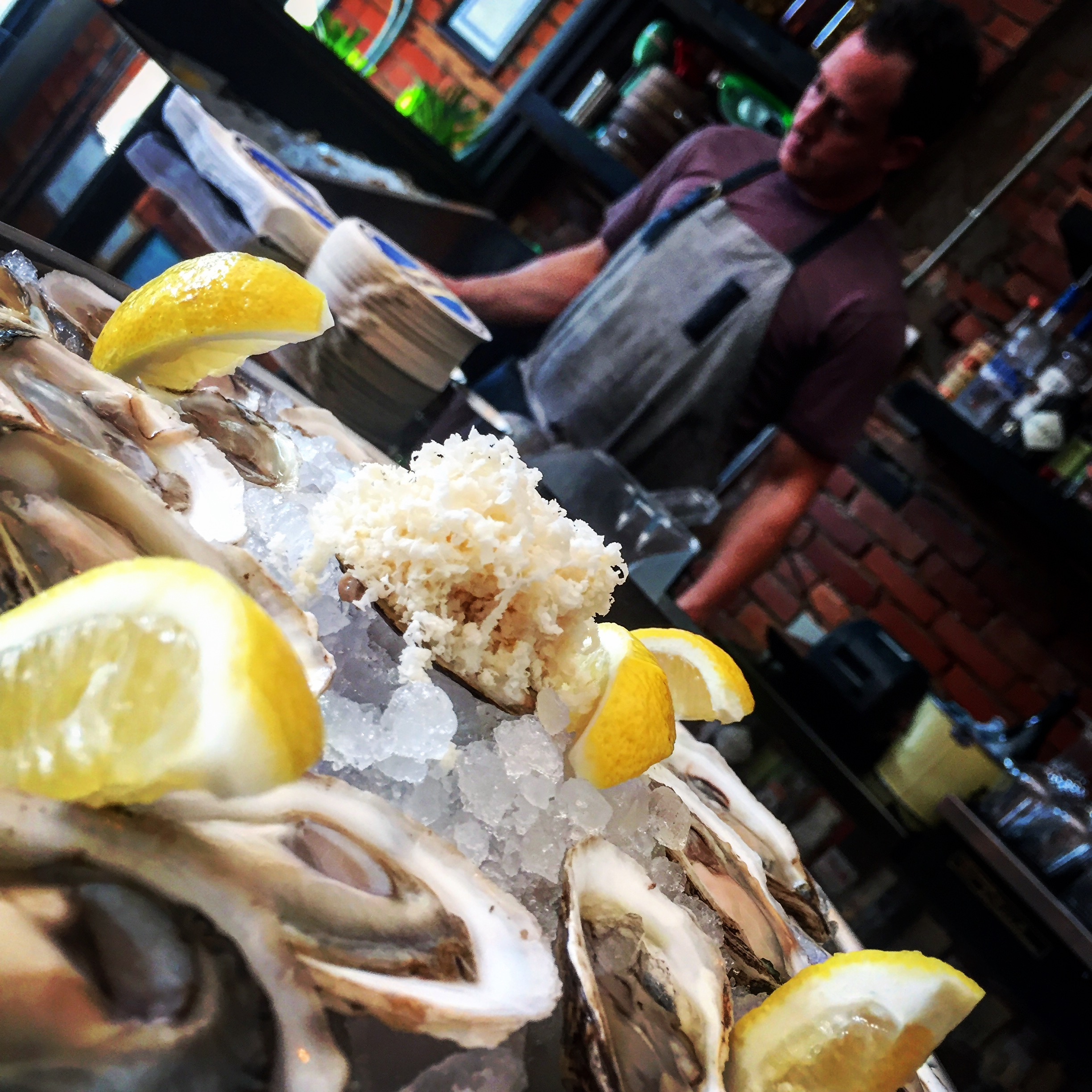 FOOD - on MONDAYS, we shuck $2 east-coast oysters all day, and offer $5 margherita pizzas after 9pm, with the purchase of a beverage.NOTE: our pasta features change often, based on which seasonal flavours are showing best.