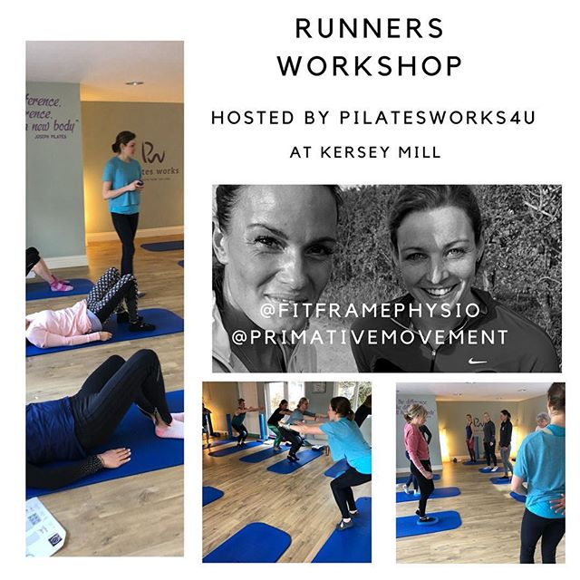 Great day presenting the workshop for Runners on Saturday at kersey Mill with @primativemovement .  Through personal experience and knowledge gained through my working career it is so important to make time for strength and conditioning and muscle release work. The conditioning can improve your running form and by making you stronger and more robust, you will be less susceptible to injury.  #running #runningphysio #strengthandconditioning #runninganalysis #foamroller #myofascialrelease #pilates
