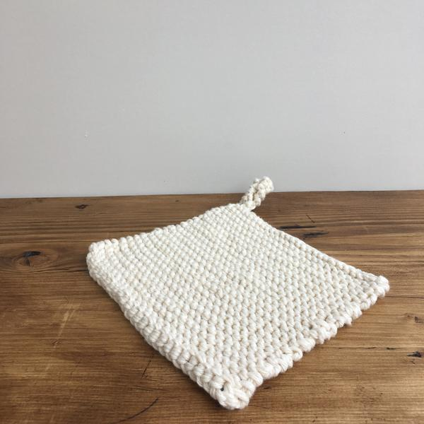 Knitted Cotten Pot Holder by Aerende