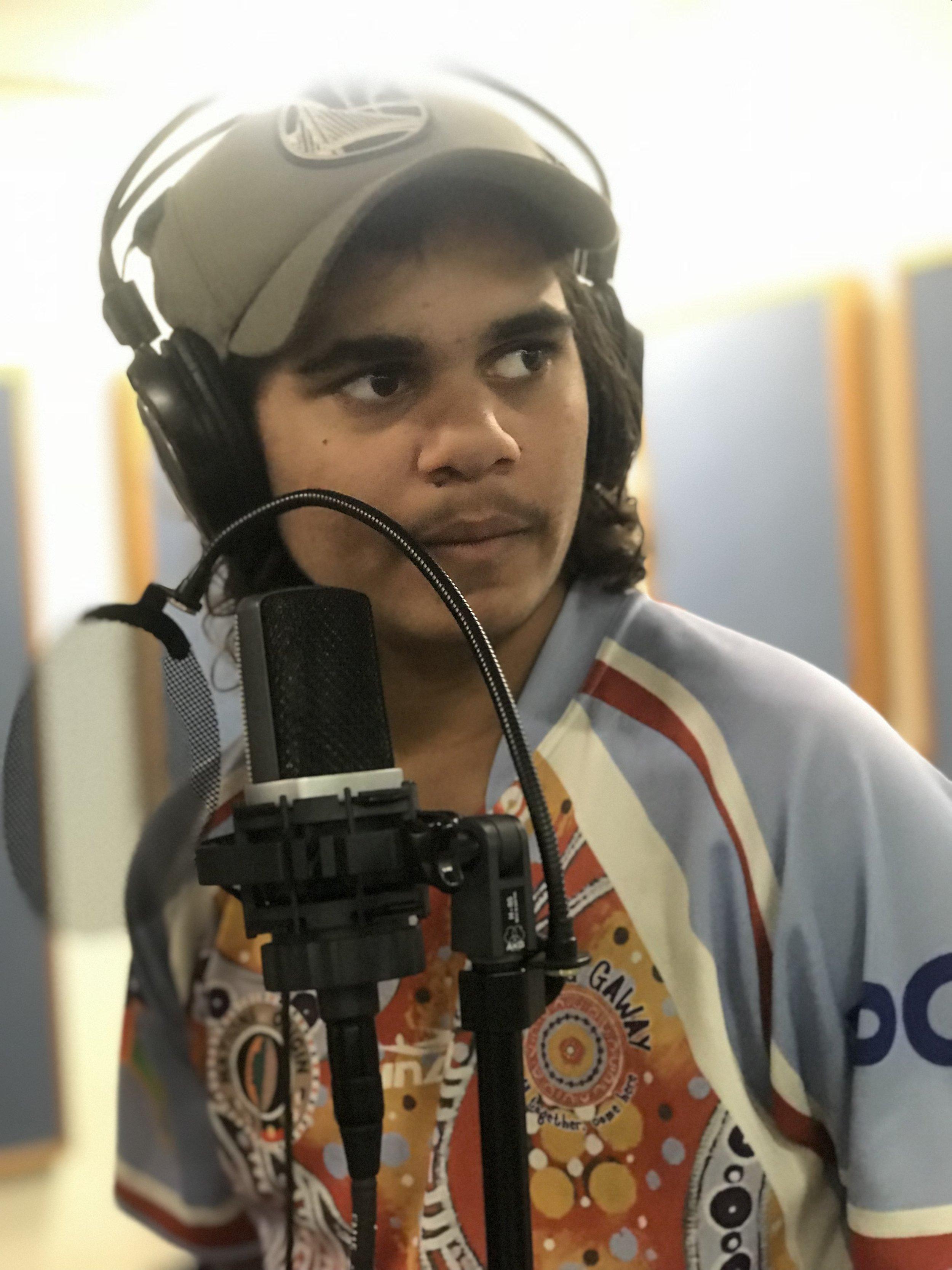 Recording at the studio