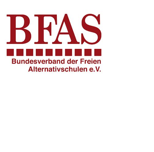 BFAS - Der Bundesverband der Freien Alternativschulen e.V. (BFAS ) ist ein Zusammenschluss von ca. 100 Freien Alternativschulen und Gründungsinitiativen in Deutschland, deren Basis selbstbestimmtes Lernen, demokratische Mitbestimmung und gegenseitiger Respekt ist. Der Verband berät Schulprojekte in der Gründungsphase, unterstützt sie im laufenden Betrieb, fördert den Austausch der Schulen untereinander und engagiert sich in der bundespolitischen Bildungsdebatte.