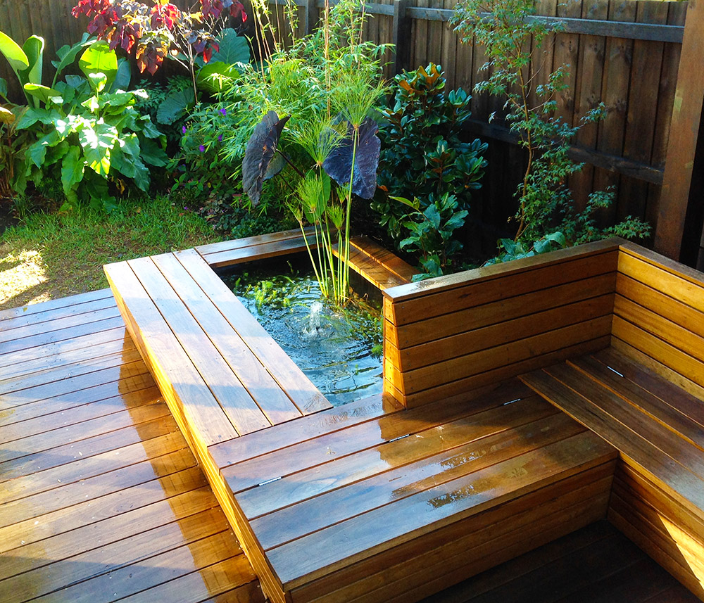 Pond, seat and planting.JPG