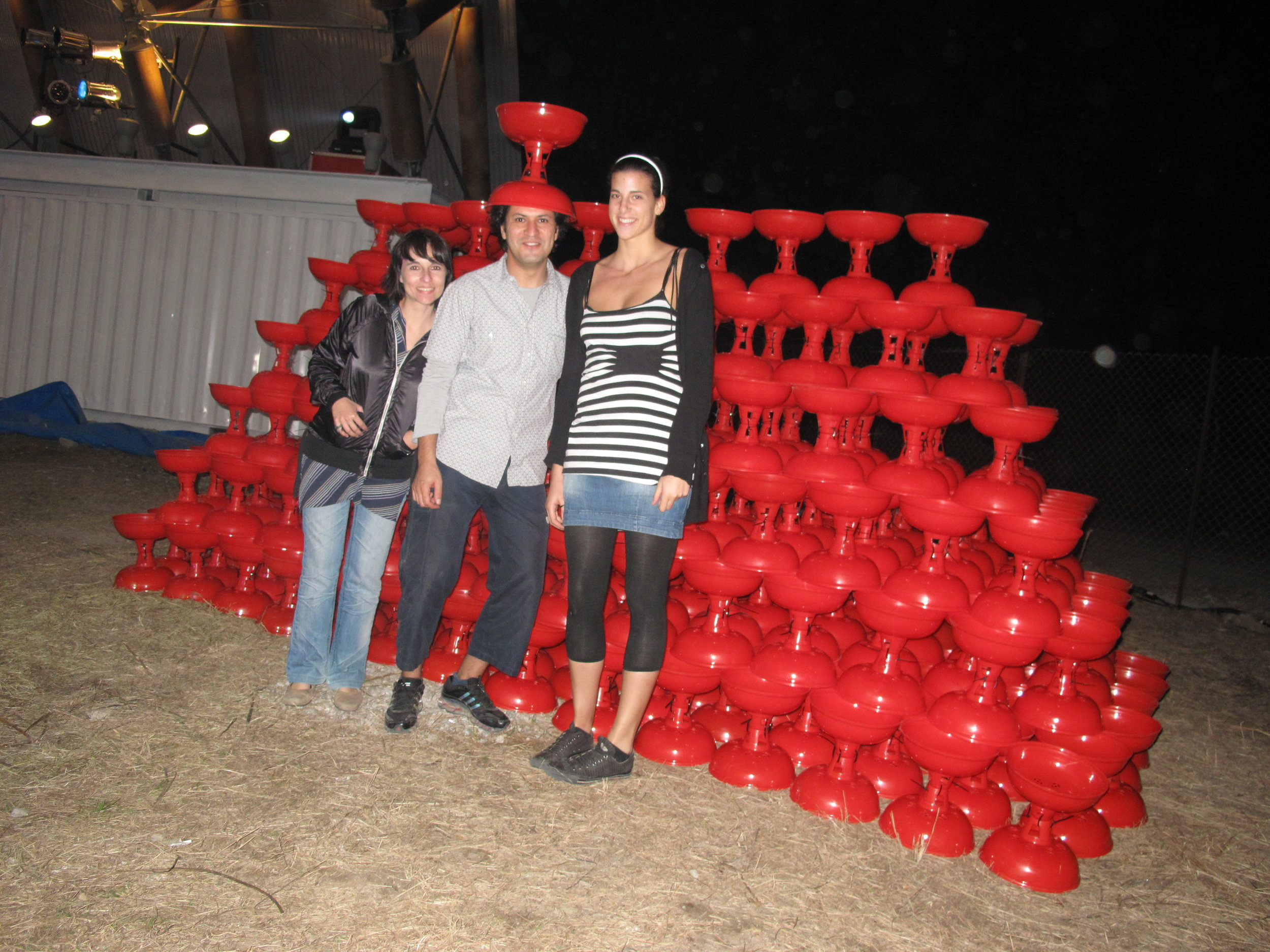 ...I helped set up an art installation in Hong Kong - with Lines Lab (Macau), December 2009