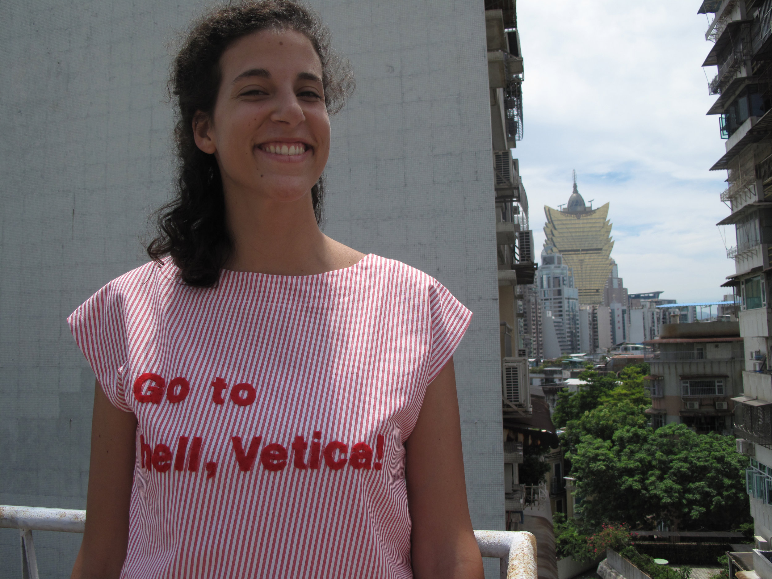 ...I participated in a group exhibition with handmade t-shirts - Macau (China), August 2011
