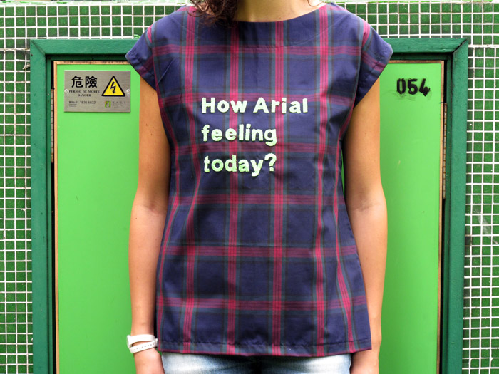 How Arial feeling today?    <i>Arial</i>