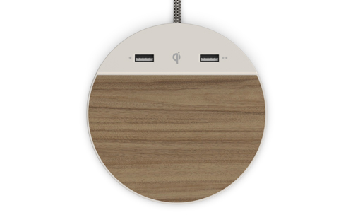 Qi Wireless Charging and Dual USB Ports