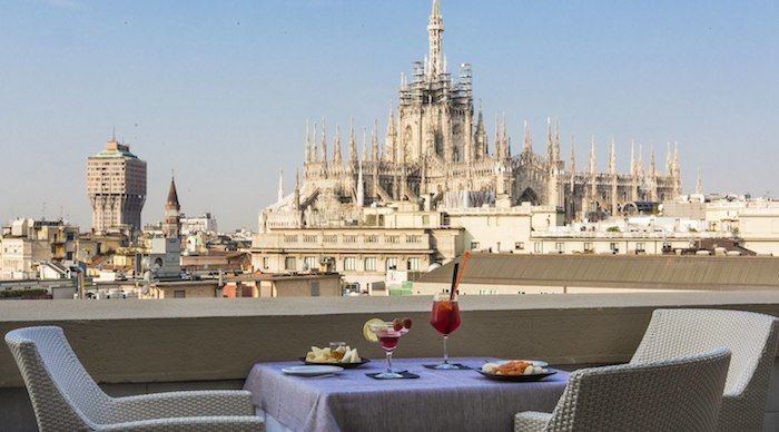 Our View From the Rooftop Terrace in Milan