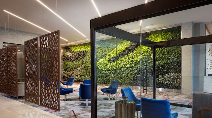 "The ""Living Wall"" at the Embassy Suites Denton"