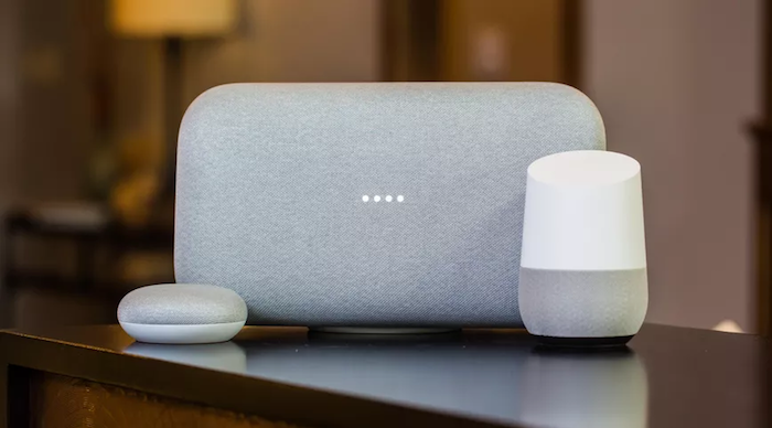 The Google Home Series uses Fabrics and Neutral Colors to Blend With Modern Interior Design Styles