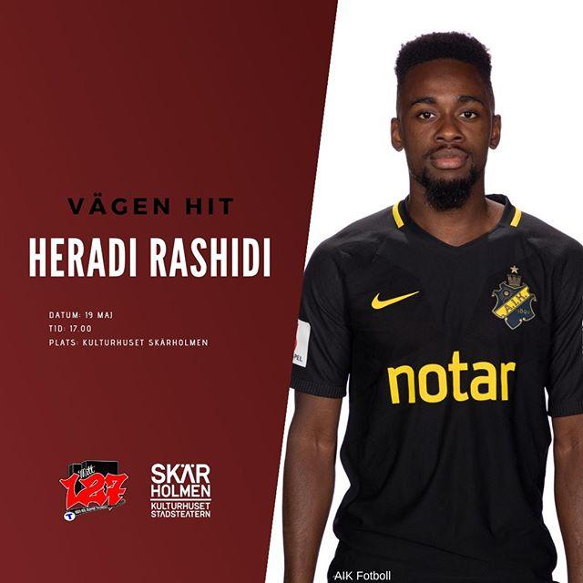 Heradi Rashidi är fotbollsproffs. 2018 blev Heradi värvad av AIK från Dalkurd FF och gjorde sitt första mål i sin debut. Han är uppväxt i Skärholmen och spelade under en tid i det lokala fotbollslaget IFK Stockholm.