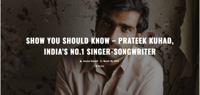 Show You Should Know – Prateek Kuhad, India's No.1 Singer-songwriter