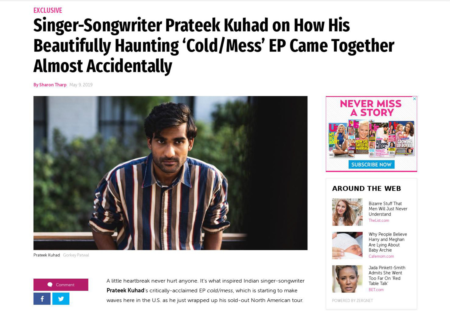 Singer-Songwriter Prateek Kuhad on How His Beautifully Haunting 'Cold/Mess' EP Came Together Almost Accidentally