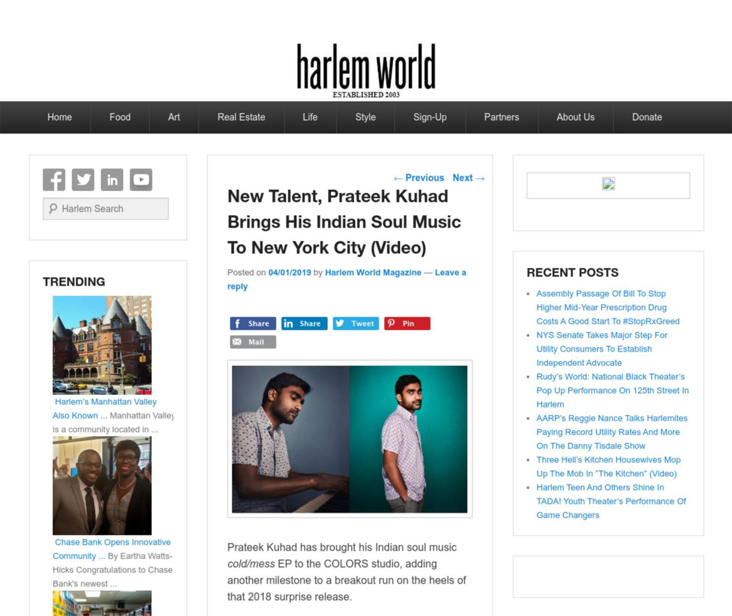 New Talent, Prateek Kuhad Brings His Indian Soul Music To New York City
