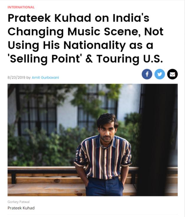 Prateek Kuhad on India's Changing Music Scene