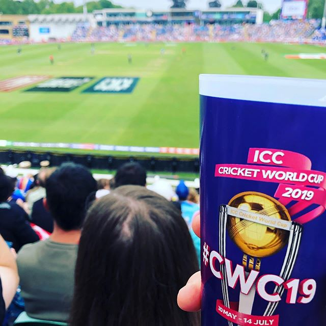 Having fun at the #cricketworldcup #cwc #cwc19