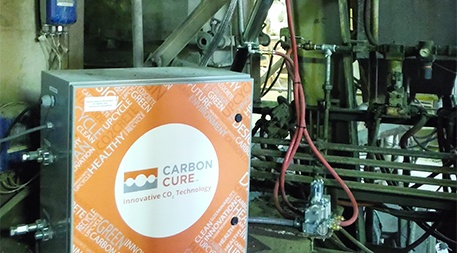 CarbonCure Technologies retrofits concrete production systems with its technology to inject waste CO2 into the process to replace some of the cement with CO2. Photo courtesy of CarbonCure