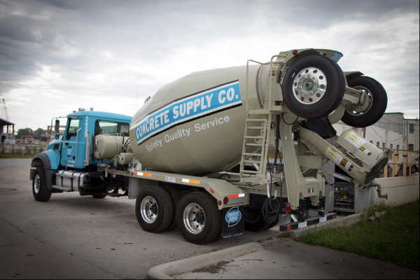 Concrete Supply Co's Fleet of Ready Mix Trucks in the North Plant
