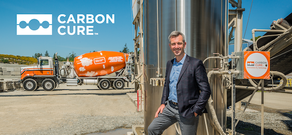 Rob Niven, Founder & CEO of CarbonCure showcases the CarbonCure Technology, which improves the sustainability and manufacturing processes of concrete production.