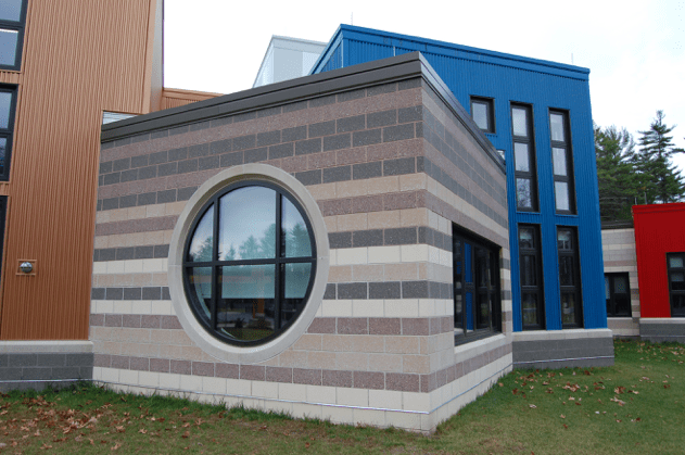 Figure 1: A. Jandris & Sons has provided masonry to dozens of LEED products, including this school.
