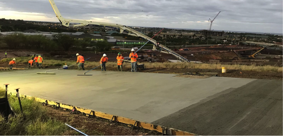 Hawaii Department of Transportation tested 150 cubic yards of concrete made with the CarbonCure Technology on the Kapolei Interchange Phase 2.