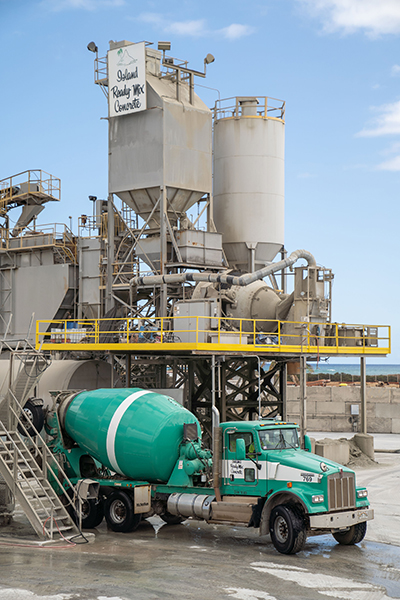 The Island Ready Mix plant in Kapolei, Hawaii is equipped with the CarbonCure Technology.