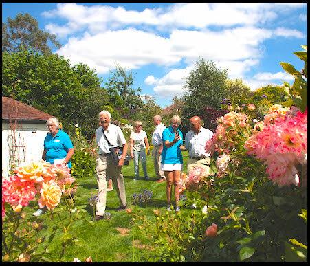The judges visiting a Titchfield garden.