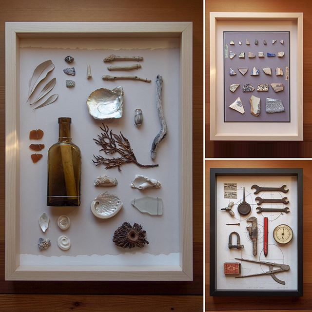 Our mini-museum assemblage artworks are handmade and curated using unique collected ephemera, beautifully arrange in a shadow box frame. These three artworks are for sale on in Stormcrow's online store (https://www.stormcrowstudio.com/store). Be sure to stay tuned for more mini-museums showcasing some very unusual objects, including antique opera binoculars found in the wilds of the Welsh border country and a collection of beautifully crafted fly fishing flies, they're little works of art in themselves! #stormcrowstudio #nundlensw #outbacknsw #assemblageart #flotsamandjetsam #ephemera #oneofakind #artistoninstagram #antiquebinoculars #flyfishingflies