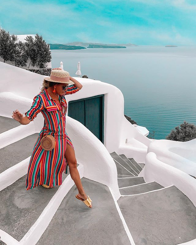 This is Probably our fav destination of all time. That's a BIG statement. . Greece ... you've won over our little Canadian hearts. . The people . The food . The atmosphere. The views . The wine . The exploring . The passion . The memories . . This truly has been a trip of a lifetime. ♥️🇬🇷🥂