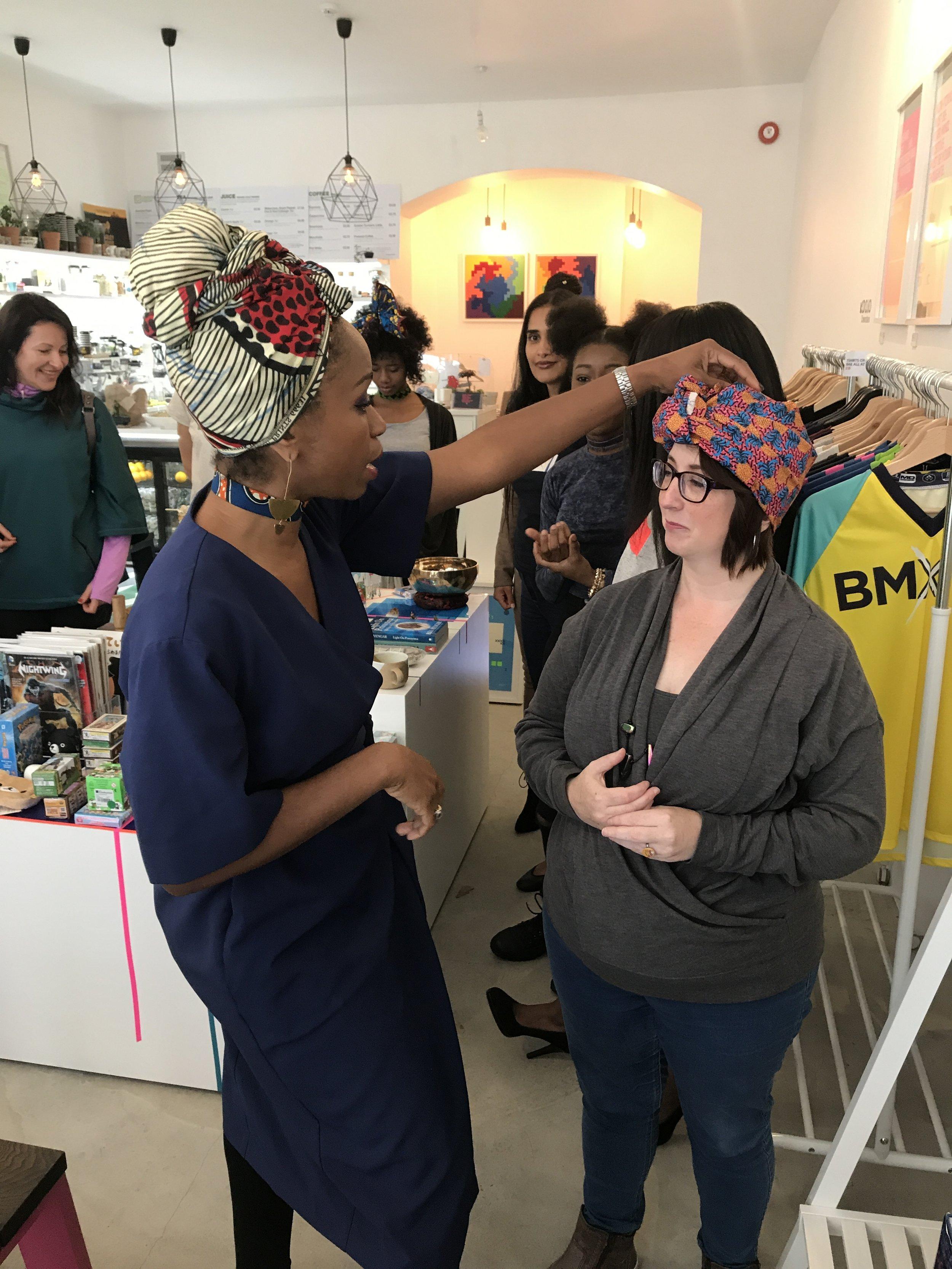 Headscarf workshop
