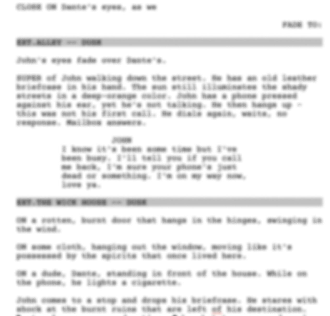 """JOHNNY (2018) - Basierend auf """"Scorn"""" von Derek Kolstad (später umbenannt in """"John Wick""""), wird hier die Geschichte des jungen John Wick erzählt, der in das Geschäft der Auftragsmörder und Kriminellen einsteigt - lange vor den Ereignissen in Scorn.Nachdem er emotional geladen einen Attentäter erschießt, der über seine Eltern herzieht, wird John von einem kriminellen Klan gekidnappt und zur Rede gestellt. Nur durch außergewöhnliche Rhetorik, kombiniert mit seinem Training im Nahkampf hat John eine Chance mit seinem Leben zu entkommen."""