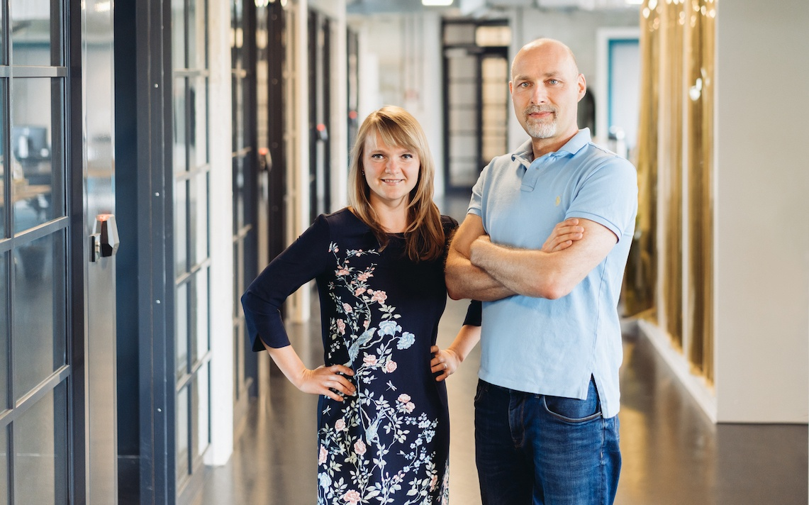 Shown above: evertrace CEO & Founder, Darina Onoprienko with CTO & Founder, Gautier Lobry.  Photo by Erik Groß, 2018.