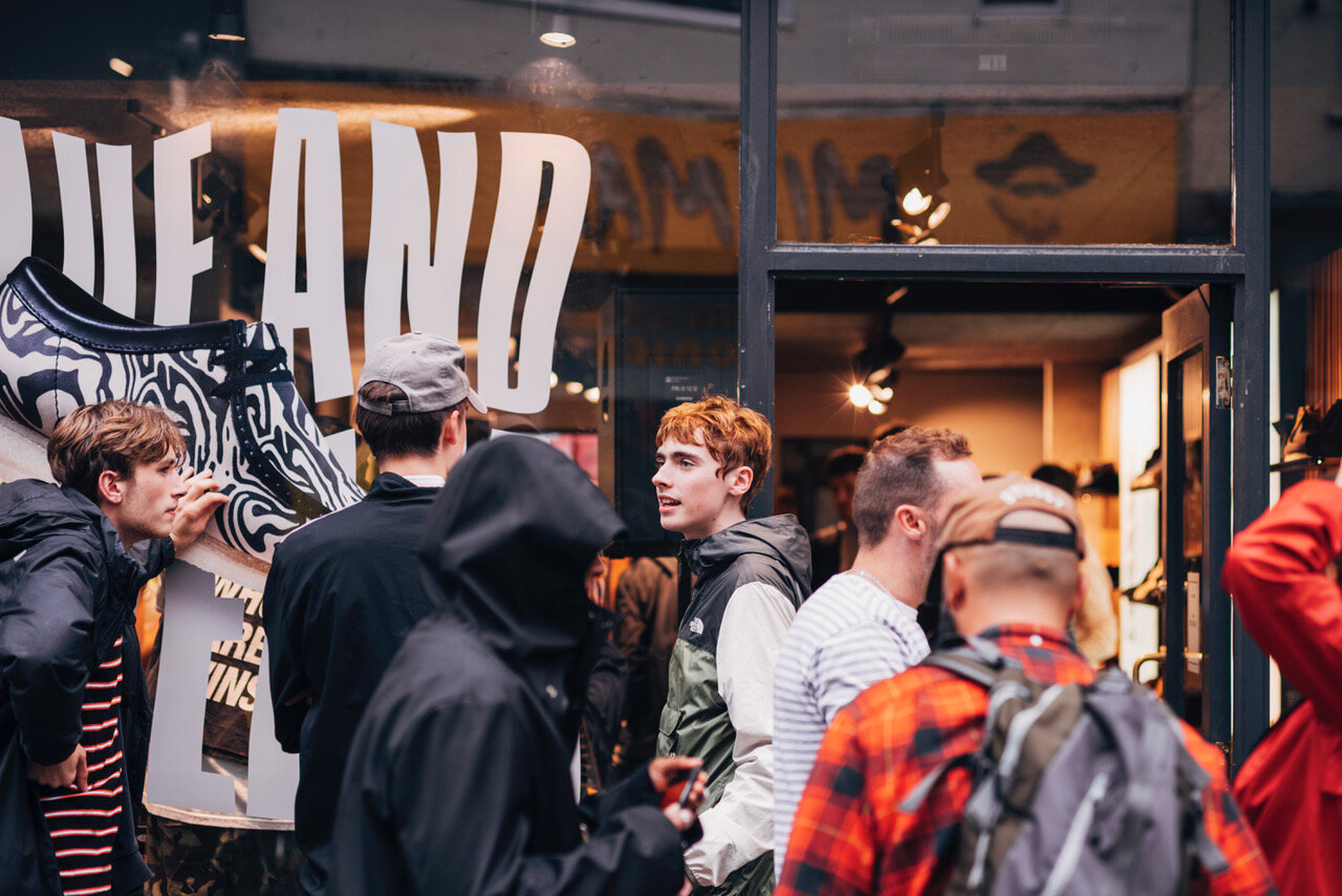 EVENT ACTIVATION - Clarks Originals tasked SANE with the flagship store launch of their second Wu Tang collaboration as part of their wallabees range, inspired by their hit cult lyrics 'Ice Cream' and 'Glaciers of Ice'.